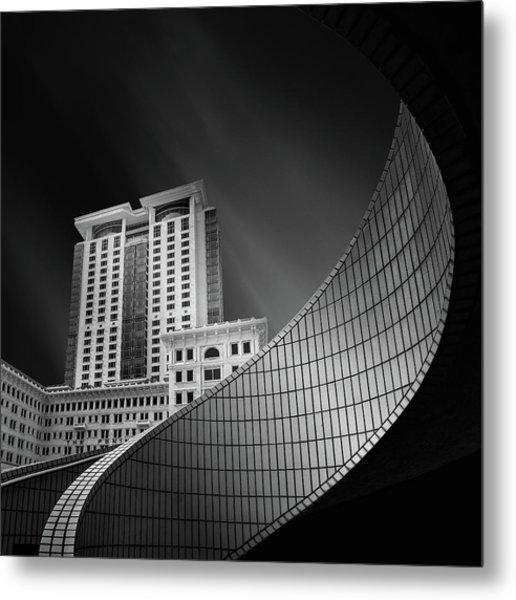 Spiral City Metal Print