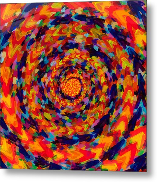 Spiral Color 14-49 Metal Print by Patrick OLeary