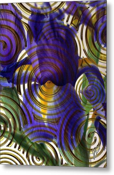 Spiral Iris Metal Print