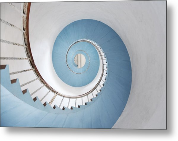 Spiral Staircase Metal Print by Acilo