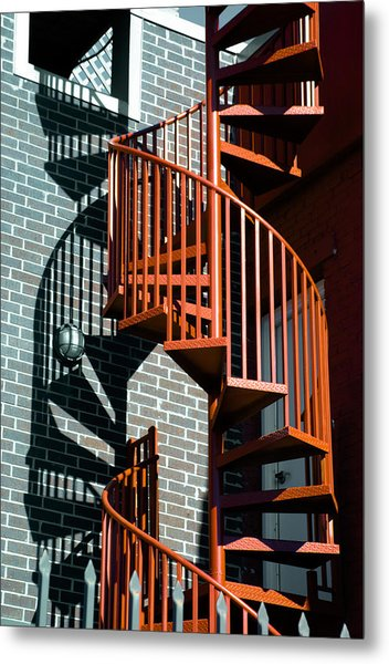 Spiral Stairs - Color Metal Print