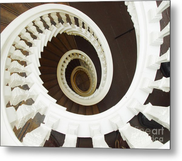 Spiral Stairs From Above Metal Print
