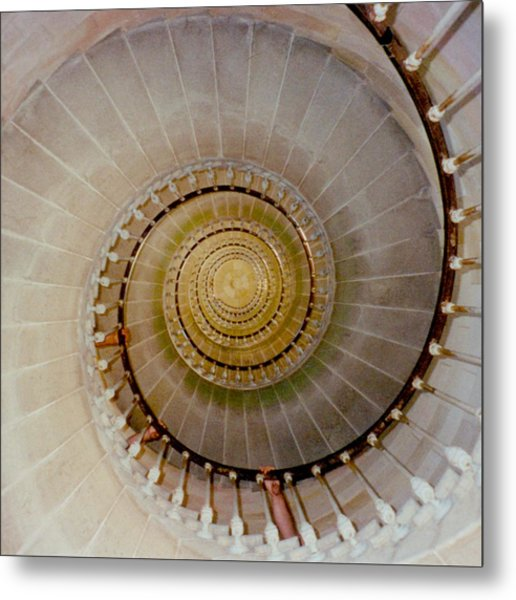 Spirale Du Phare Des Baleines Version Carree Metal Print