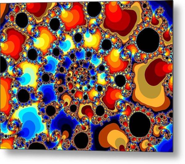 Spiraling Fireballs Metal Print by Ester  Rogers