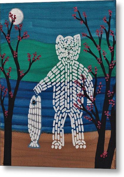 Spirit Bear Bella Coola Metal Print