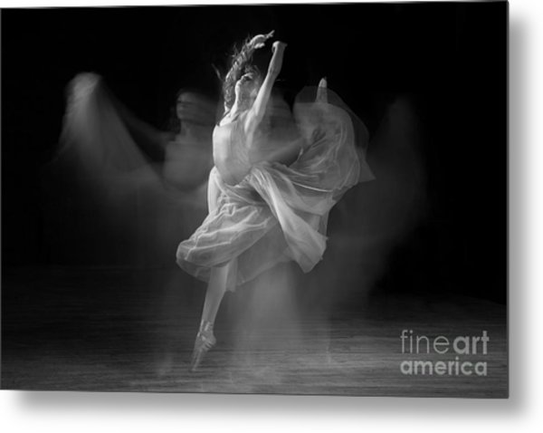 Spirit Dance In Black And White Metal Print