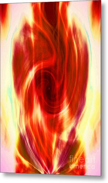 Spirit Fire Of Kundalini Metal Print by Rebecca Phillips