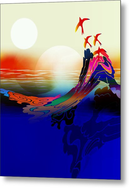 Spirit Flight Metal Print by Bruce Manaka