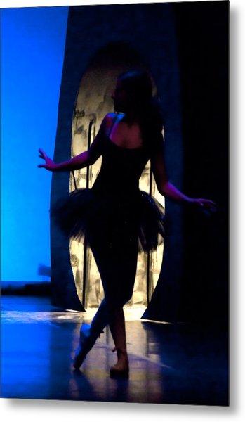 Spirit Of Dance 3 - A Backlighting Of A Ballet Dancer Metal Print