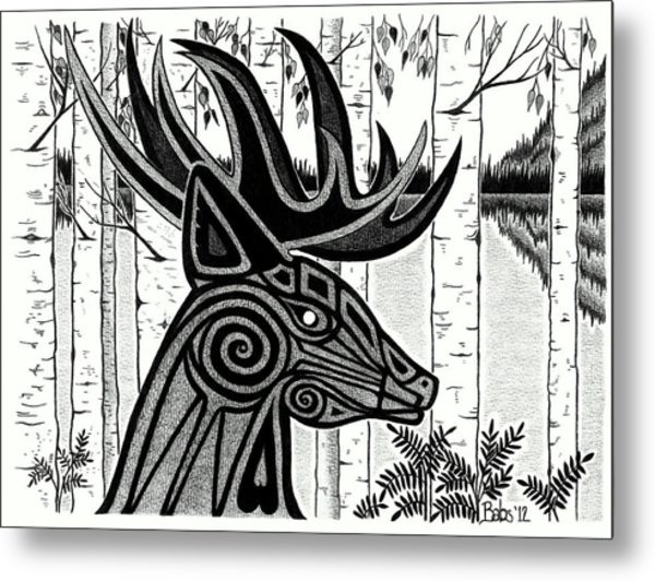 Spirit Of Gentle Strength Metal Print