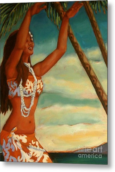 Spirit Of Hula Detail Metal Print