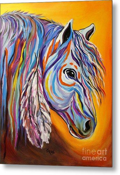 'spirit' War Horse Metal Print
