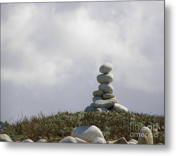 Spiritual Rock Sculpture Metal Print