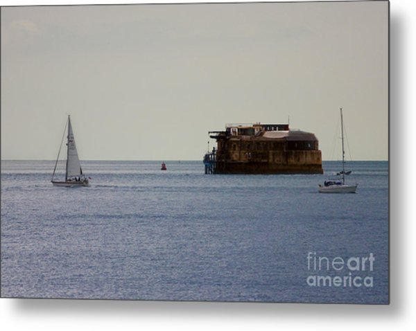 Spitbank Fort Martello Tower Metal Print