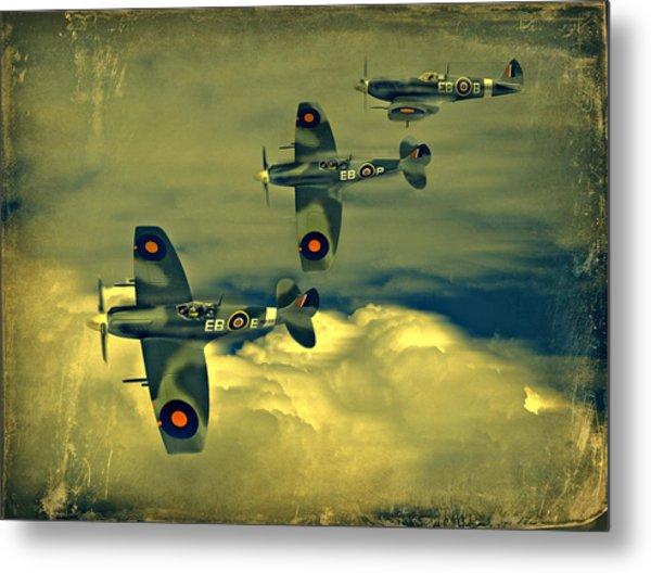 Spitfire Flight Metal Print