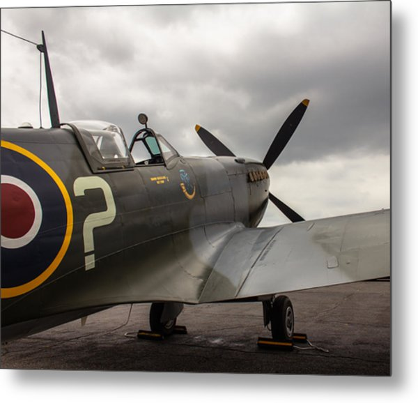 Spitfire On Display Metal Print