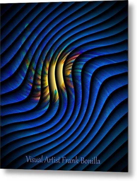 Metal Print featuring the digital art Splash Of Color by Visual Artist Frank Bonilla