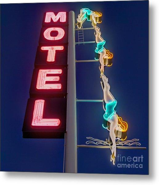 Splashdown Motel Metal Print
