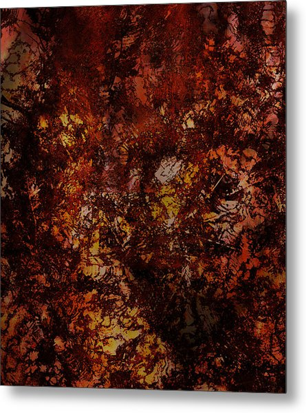 Splattered  Metal Print