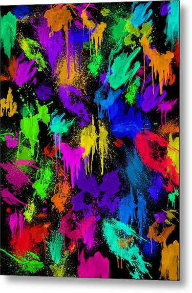 Splattered One Metal Print