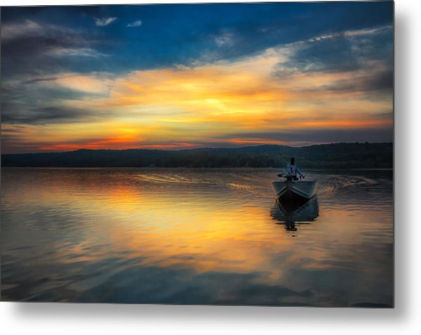 Splendor On The Lake Metal Print