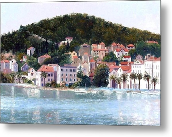 Split Harbour Croatia Metal Print