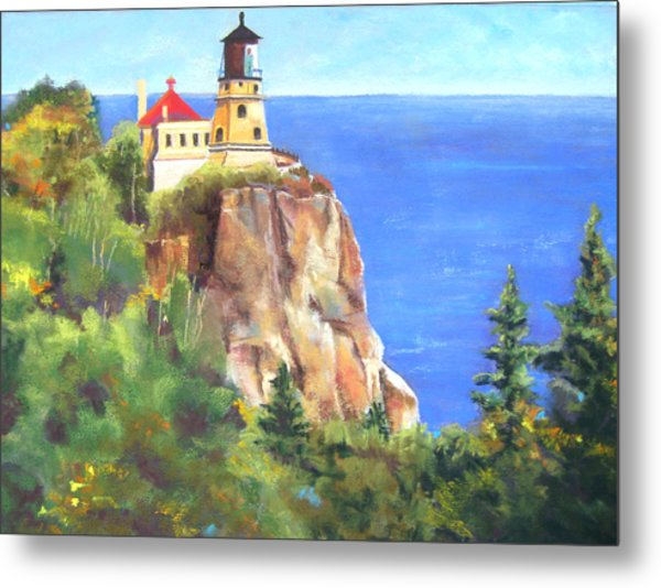Split Rock Lighthouse Metal Print by Vicki Brevell