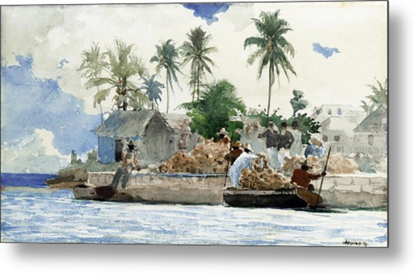 Metal Print featuring the painting Sponge Fishermen by Winslow Homer