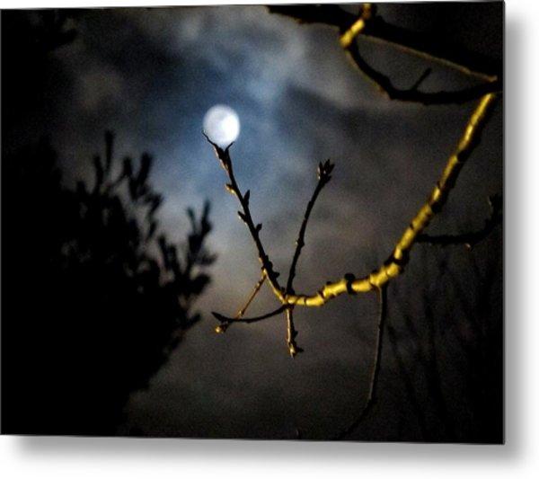 Spooky Moon Metal Print