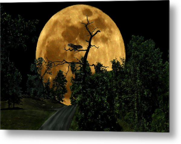 Spooky Road Metal Print