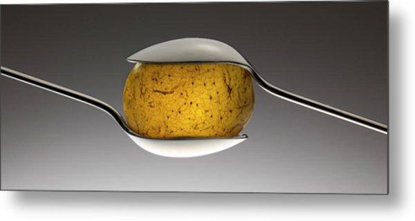 Spooned Potato Metal Print