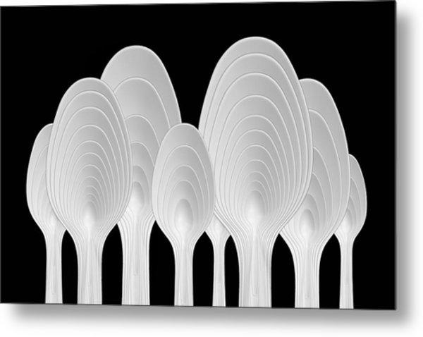 Spoons Abstract: Tree Rings Metal Print