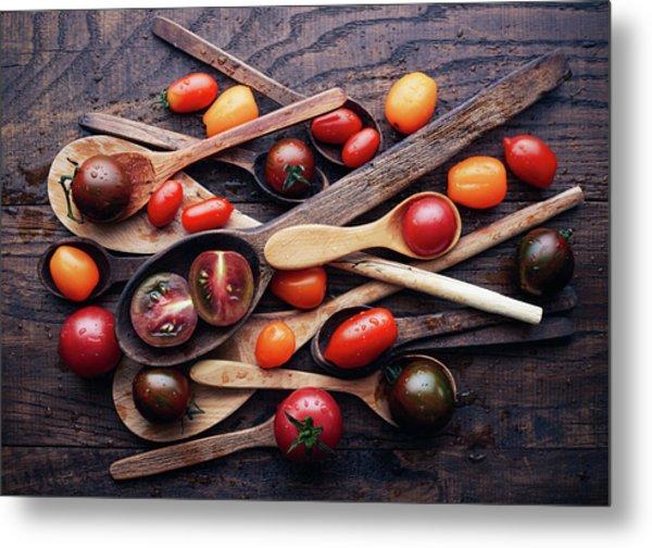 Spoons&tomatoes Metal Print by Aleksandrova Karina
