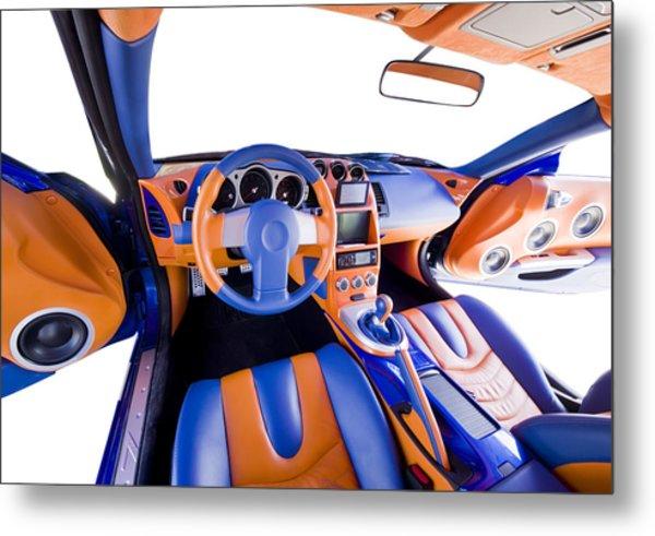 Sports Car Interior Metal Print by Ioan Panaite