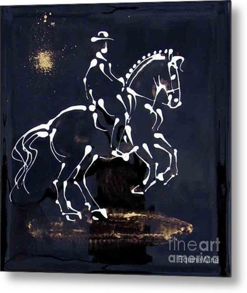 Spotlight Lusitano Metal Print by Diane Schell