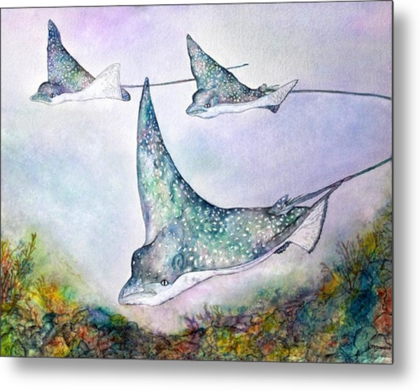 Spotted Eagle Rays Metal Print