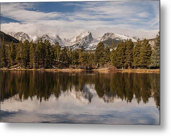 Sprague Lake Reflection In The Morning Metal Print
