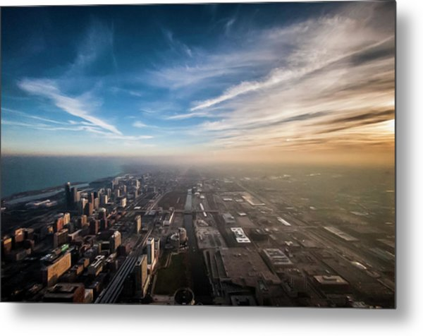 Sprawling City Looking South Metal Print by By Ken Ilio