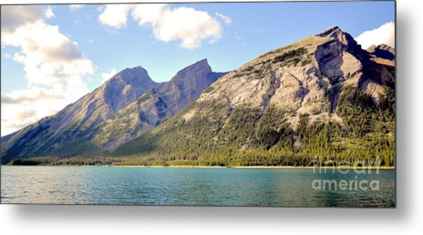 Spray Lake Mountains Metal Print