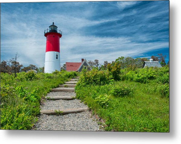 Spring At Nauset Light Metal Print