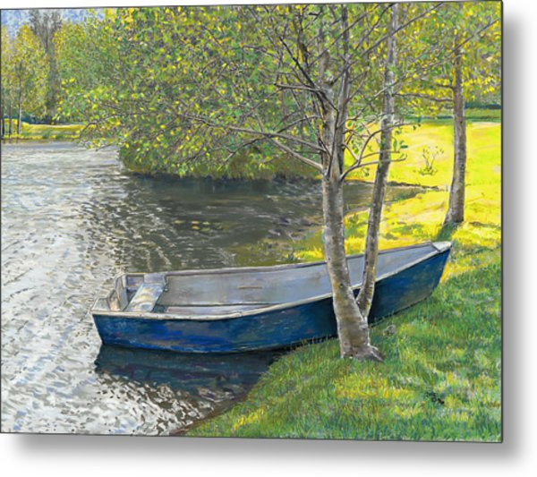 The Blue Rowboat Metal Print