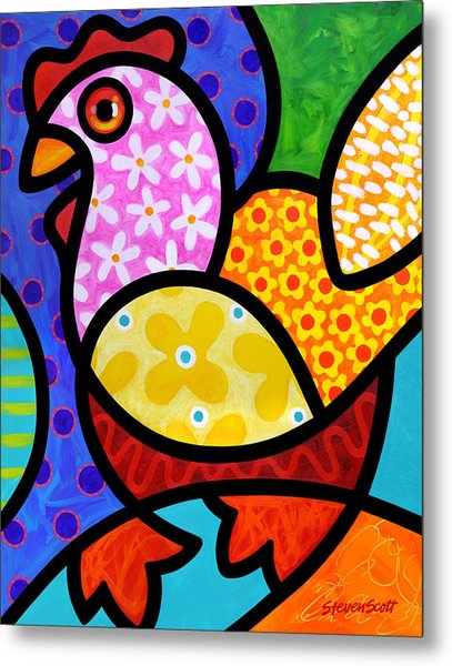 Spring Chicken Metal Print