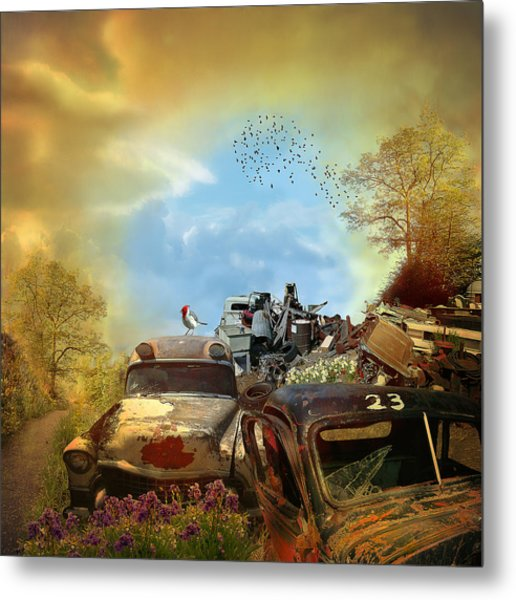 Spring Cleaning - Landscape Metal Print