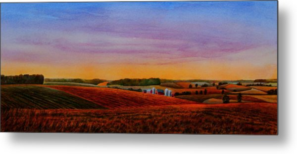 Spring Fields Metal Print