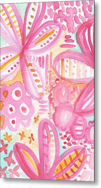 Spring Flowers- Watercolor Painting Metal Print