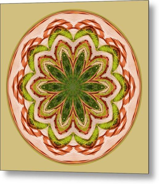Spring Grasses Mandala Metal Print