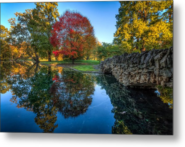Spring Grove In The Fall Metal Print