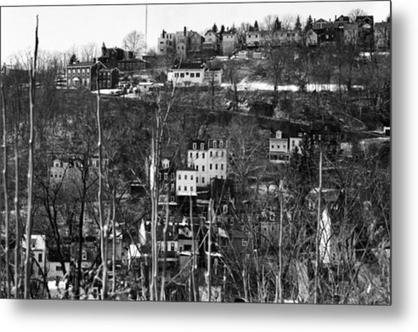 Spring Hill From Troy Hill In Pittsburgh Metal Print by Eric Miller