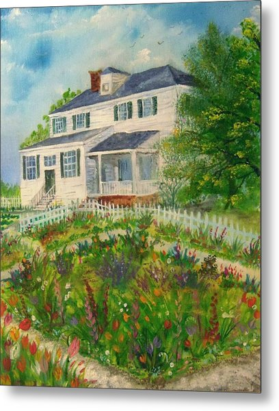 Spring In Colonial Williamsburg- Cole House Metal Print