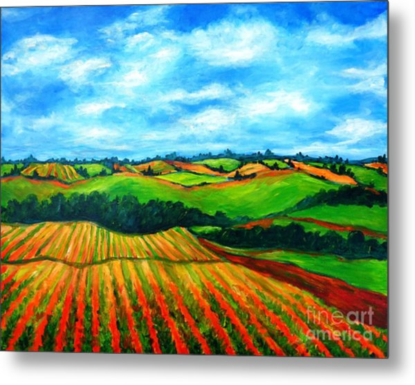 Metal Print featuring the painting Spring In Prince Edward Island by Cristina Stefan